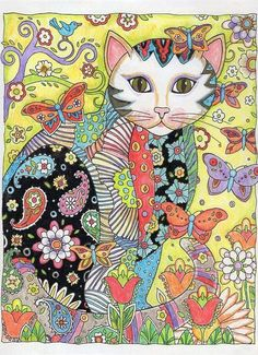 Creative Cats Features Over 30 Drawings Of Fancy Felines