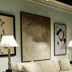 EJ Victor showroom in High Point NC:  Artwork Brent Baker.