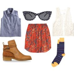 vintage shopping downtown, created by athensstreetstyle on Polyvore