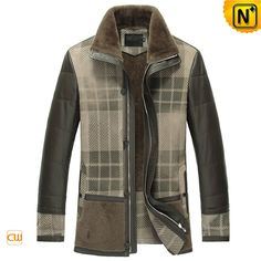 www.cwmalls.com PayPal Available (Price: $1895.89) Email:sales@cwmalls.com;  Men's Shearling Leather Coat CW852276 Handsome designer men's shearling leather coat for sale, classic sheepskin shearling leather coat that combination of both suede and Napa leather exterior takes the bite out of winter!