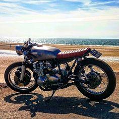 """My bratcafe bike  #bike #caferacer #motorcycle #motorbike #kawasaki #racer #aircooled #croig #motor #oldschool #classic #braap #rough…"""