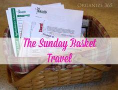 The Sunday Basket: Week 14 - Travel | Organize 365