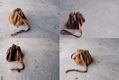 telling oceans: simple leather pouch DIY