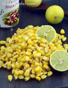 Buttered Sweet Corn, a classic snack that is now so much a part of the Indian street-food scene, is so easy to make at home! Succulent sweet corn kernels are sautéed in butter, seasoned with pepper and tinged with lemon juice to make a scrumptious snack, which is just too irresistible when had steaming hot.    The cooking time is very important in this recipe because the corn must retain a bit of its crunch, should be moderately cooked and should not become dry. So, follow the instruction... Asian Snacks, Healthy Snacks, Baby Corn Recipes, Evening Snacks Indian, American Corn, Corn Snacks, Buttered Corn, Baked Corn, Indian Street Food
