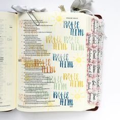 { Psalm 145:1-2 } Every day. #lovegodgreatly #growingthroughprayer #biblejournalingcommunity #biblejournalingdaily #bibletabs #biblejournaling #journaling #illustratedfaith