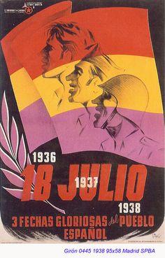 Spain - 1938. - GC - poster - Sempre hi haurà un 18 de juliol per a poder perdonar però mai per a oblidar. No hi ha pau sense justícia.