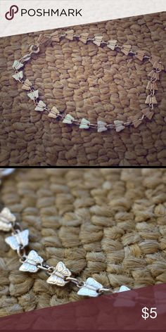Silver butterfly bracelet Delicate silver butterfly bracelet with clasp Jewelry Bracelets