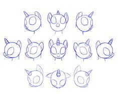 [MLP]draw pony head by Pennygu on deviantART