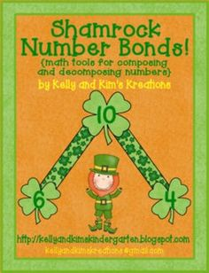 Shamrock Number Bonds will be a great hands-on way to practice composing and decomposing numbers. This Common Core-aligned pack includes large and small number bonds, numerals and from 0 to 20, cooperative group recording sheets, plus differentiated addition assessments for composing and decomposing numbers and writing matching equations.
