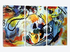 """The Last Judgment by Wassily Kandinsky Canvas Print 60"""" L x 40"""" H x 0.75"""" D"""