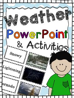 This PowerPoint presentation was created with photographs of all types of weather and weather tools. It includes interactive slides, a matching card game, and an editable presentation that you can customize.