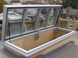 "Lift Top roof access hatchhttp://www.livingdaylight.co.uk/roof-garden-access.htm  Roof access hatch; Do a nautical style stairway up to a hatch... ""above decks"""