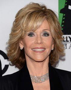 Short Hairstyles for Women Over 50, 60: Jane Fonda Hair Cut