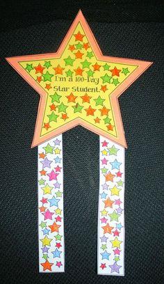 Classroom Freebies: 100 Day Star Badge