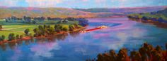 "Artist, Lynn Dunbar"" creates a beautiful perspective in her piece entitled ""River Reflections"" The Ohio River has never looked better! Drop in to Malton gallery to view all her new work.     Brenda"