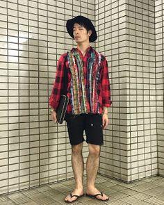 Y's Wardrobe: 【rebuild by needles gramicci racal】真夏のチェックシャツ、超リメイ...