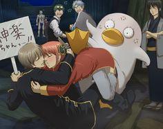 "I wish they did this in the ""switched body arc'' Manga Couple, Anime Love Couple, Cute Anime Couples, Funny Couples, Katsura Kotaro, Okikagu Doujinshi, Gintama Funny, Manga Anime, Anime Art"