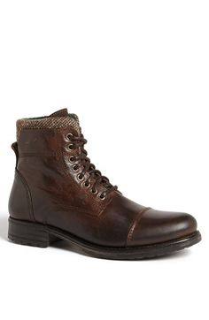Free shipping and returns on ALDO 'Timo' Cap Toe Boot (Men) at Nordstrom.com. A rustic fabric accent defines a vintage-style boot with broad appeal.