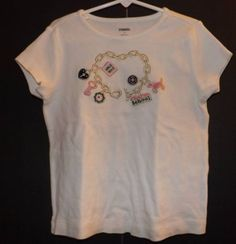 Girls Gymboree Smart Girls Rule Charm T-shirt Sz 7