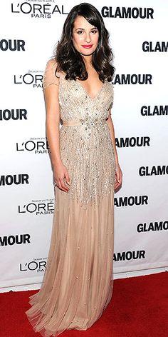 Lea Michele in Jenny Packham