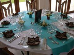 Déco de Mariage Bleu Turquoise Marron Chocolat   Deco idée mariage ...