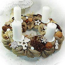 Dekorácie - Adventní věnec - Přírodní jutový s medvídky - 10254456_ Candle Sconces, Advent, Wall Lights, Candles, Christmas, Diy, Inspiration, Decor, Jute