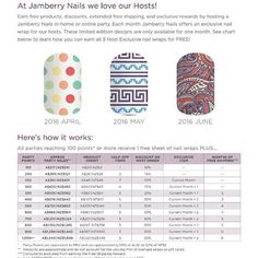 Who loves Jamberry?? Why not book a party now for the month of April! All you have to do is invite a few friends, you supply chips and dip and I'll bring the fun! Or we can do it all online in the comfort of your own home!  Please message me for any details