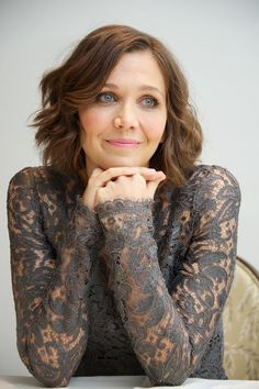 Maggie Gyllenhaal I served her at work - she was so glamorous with a floral, feminine, long summer dress with big sunglasses and a floppy, elegant, straw hat.