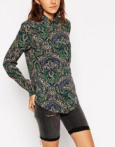 ASOS Vintage Paisley Print Blouse at ASOS. Asos Vintage, Androgynous, 70s Fashion, Paisley Print, Blouse, Clothes, Tops, Women, Style