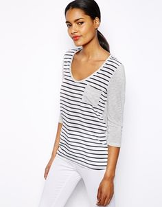 River Island Striped Pocket Top