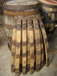 Aged Old Vintage Whiskey Barrel Staves for DIY Crafts.
