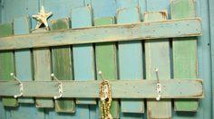 Beach Fence Hook Rack by CastawaysHall on Etsy, $49.00