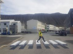 Town in Iceland Paints 3D Zebra Crosswalk To Slow Down Speeding Cars