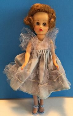 "Vintage Cosmopolitan Little Miss Ginger Fashion doll 10 1/2"" TLC Tagged Dress"