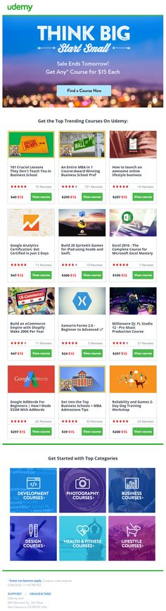 Udemy email