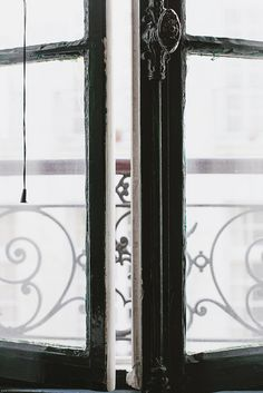 French doors in a Paris apartment