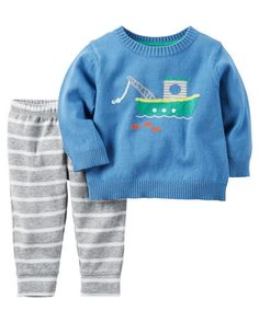 Baby Boy 2-Piece Little Sweater Set from Carters.com. Shop clothing & accessories from a trusted name in kids, toddlers, and baby clothes.