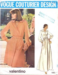 70s Valentino Vogue Couturier Design Sewing Pattern by CloesCloset