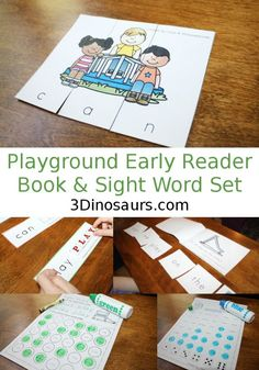 Playground Early Reader Book & Sight Word Set -  - 4 Readers with matching sight word activities for the books 92 pages of activities $ - 3Dinosaurs.com
