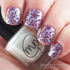 M Polish Spring 2015 Swatches and Reviews: Snowberry  #nail #nails #manicure #stamping #mpolish #snowberry