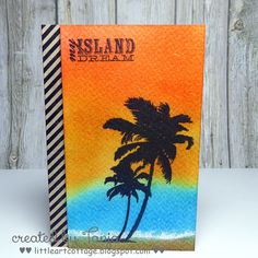 Little Art Cottage: My Island Dream - Beach Cards, Cardmaking, Card Ideas, Ethnic, Mixed Media, Stamps, Cottage, Island, Projects