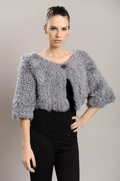 Gray bolero of Kalgan fur. Available for wholesale orders.