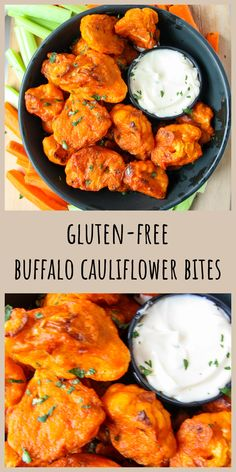 These Buffalo Cauliflower Bites are a crisp and spicy, delicious snack. These are an easy to make, baked, gluten-free, dairy-free, and vegan cauliflower appetizers that everyone will love. #cauliflowerrecipes #buffalocauliflower #buffalosnacks #cauliflowerappetizers #veganbuffalosnacks #buffalocauliflower #cauliflowerwings Buffalo Cauliflower Bites, Cauliflower Recipes, Vegan Cauliflower, Spicy Appetizers, Vegetable Appetizers, Easy To Make Snacks, Gluten Free Recipes, Healthy Recipes, Vegetarian Side Dishes