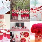 Cute ideas for red and white. The upper right would be great for the table set against the beachy background.
