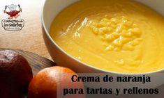 Cómo hacer crema de naranja para tartas y rellenos