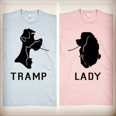 Disneyland Couples Shirts Lady The Tramp Spaghetti Scene