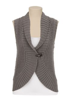 0fbd226c44 Toggle Front Knit Vest available at  Maurices Shrug Cardigan
