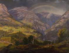 j c dahl - Google Search Paul Gauguin, Johan Christian Dahl, Romanticism Paintings, Google Art Project, Great Works Of Art, Oil Painting Reproductions, Photo Wall Collage, Mountain Landscape, National Museum