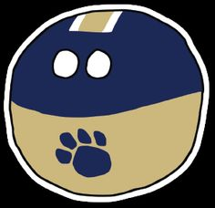 Pittsburgh-inspired /r/CFBBall Ball Logo designed by /u/A-Stu-Ute! Stickers available now through Stickermule. #pittsburgh #pitt #panthers #cfbball #collegefootball #rcfb #acc