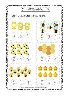 Bee Activities, Kindergarten Worksheets, Preschool Activities, Math Literacy, Numbers Kindergarten, Math For Kids, Notebook, Online Exercise, Sony Electronics